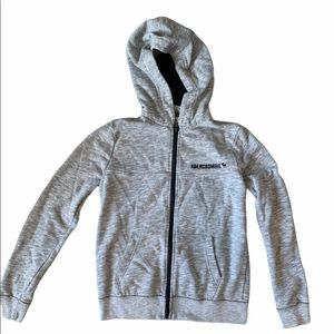 ABERCROMBIE & FITCH BOYS GREY LONG SLEEVE HOODIE